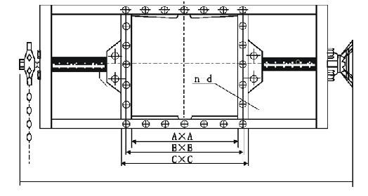 气动螺旋闸门(阀体结构图)